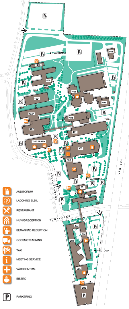 Medicon Village site map